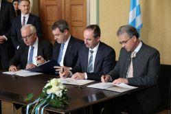 foto koalitionsvertrag unterschrift
